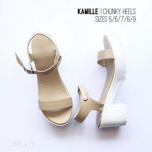 Chunky Heels Kamille Beige