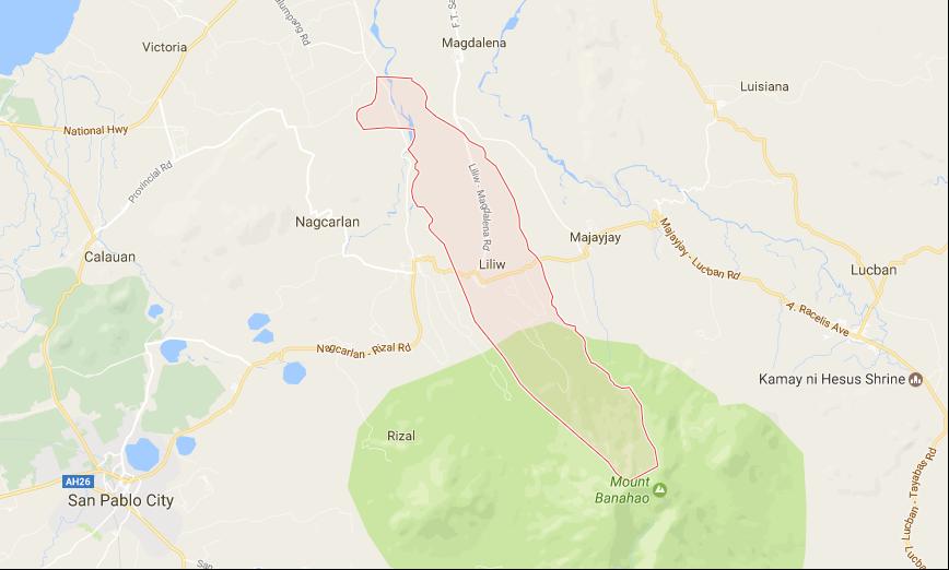 Liliw Laguna Map